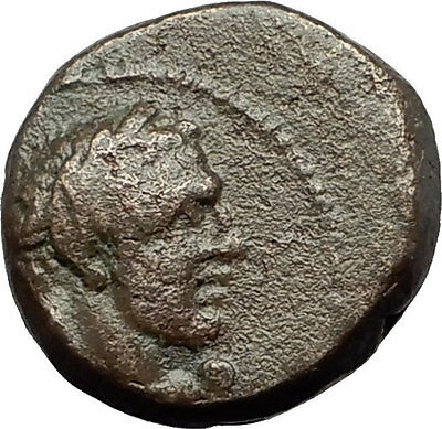 SARDES in LYDIA 133BC Hercules Apollo Raven Authentic Ancient Greek Coin i59433