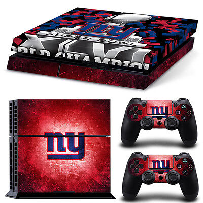 New York Giants Sticker Decal Skin For PS4 Console + 2 Controllers