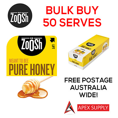 Zoosh Pure Honey Portion Control Single Serve  50 x 13.6g BULK KRAFT