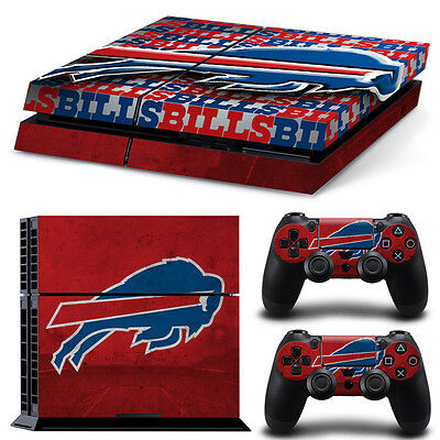 Buffalo Bills Sticker Decal Skin For PS4 Console + 2 Controllers