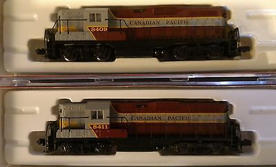 Atlas N Scale CPR Canadian Pacific GP7 Loco Pair Rd# 8409 &8411 DC