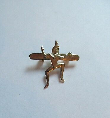 Vintage girl guide brownie pin brooch