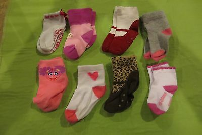 Baby/toddler Girls 8 Pairs Very Nice Socks Various Brands Size 12-24 Months Euc!