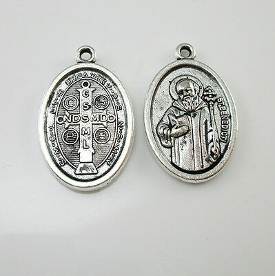 100pcs of St. Benedict Medal San Benito Cruz Medalla Blessed Pendant