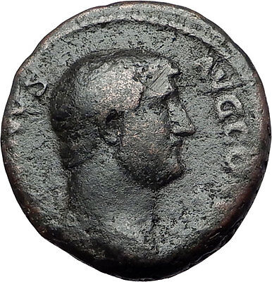HADRIAN clasps hands with FELICITAS 134AD Rome As Ancient Roman Coin i59505