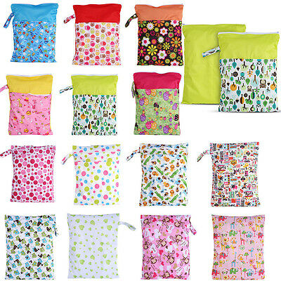 16 Styles Baby Adult Nappy Reusable Washable Wet Cloth Zip Diaper Swimmer Bag JS