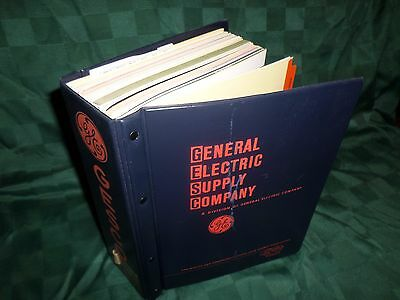 Vtg General Electric Supply Co GESCO Giant Binder 1970, 10 Pounds of Clean Info!