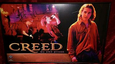 """Autographed Creed 1997 """"my Own Prison"""" Poster"""