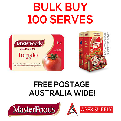 Masterfoods Tomato Sauce Squeeze Portion Control  14g x 100 BULK BUY