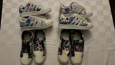 Small Lot of Girls Sneakers and Boots (6 pairs, sizes 4 and 5 US, No Box)