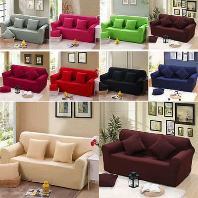 Stretch Sofa Slipcover Protector Soft Couch Cover Washable Fit 1/2/3/4 Seater