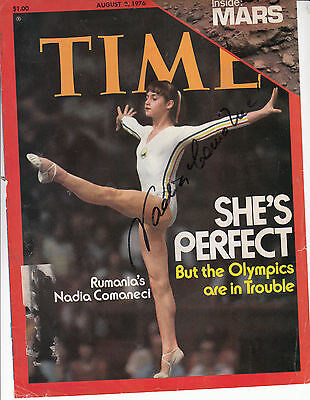 Nadia Comaneci Hand Signed Front Cover Of Time Magazine 2/8/1976