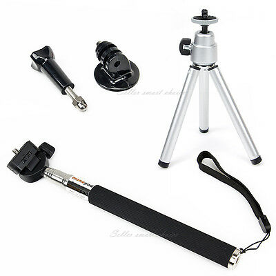Telescopic Monopod Pole Mount Handle Selfie Stick + Tripod for Gopro Hero 5 4 3