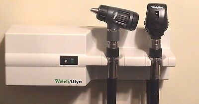 Welch Allyn 767 Transformer Otoscope 23810 & Ophthalmoscope 11710 Diagnostic Set