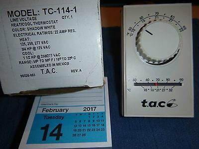 T.A.C  TC-114-1 Thermostat line voltage