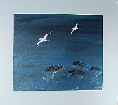 "Original art ""Near the shore"" acrylic painting by Dodie Mitchell"