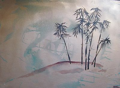"Original art ""Private Spot"" acrylic painting Dodie Mitchell 16 X 12 in. canvas"