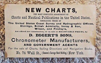 1880's Chronometer Meter & Nautical-Charts Business Card