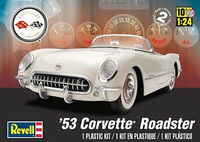 1/24 53' Corvette Roadster Revell Plastic Model Kit 85-4057 New