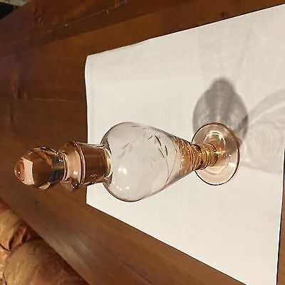 Glass decorative bottle with stopper