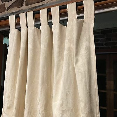 Cream tab top curtains - Lined.  As new appearance.