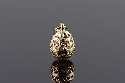 14K James Avery Filigree Cut Out Easter Egg Charm/Pendant Yellow Gold