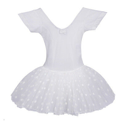 Little Girls' Flutter Sleeve Camisole dance Ballet Tutu Dress,L