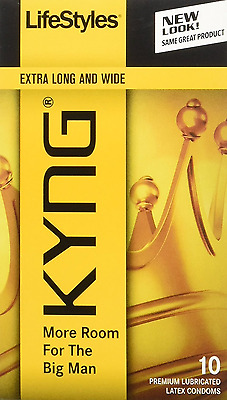 Lifestyles Kyng Gold Condoms, 10-Count