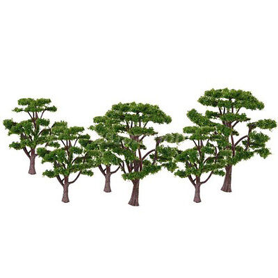 10pcs Green Tree Model Railroad Architecture Street Scenery Layout Decor Vogue