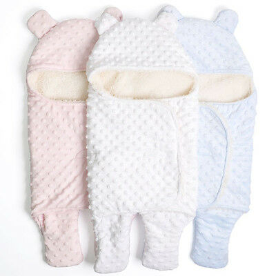 Knitted Newborn Baby Outfits Wear baby Swaddle Sleeping Bags Solid Color