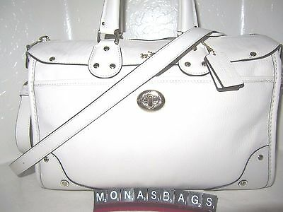 New Authentic Coach Rhyder Chalk Leather Satchel Convertible Bag 33689 NWT $495