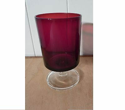 Ruby Red J.G. Durand Cristal D'Arques glassware 6 Oz stemmed glass Make an offer