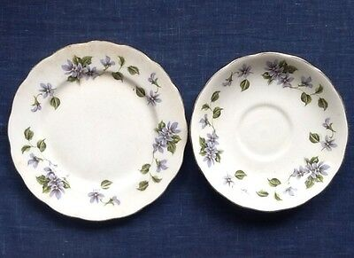 Queen Anne saucer and bread and butter plate