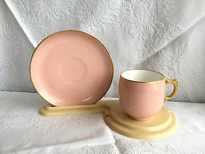 A. K. Limoges Pink with Gold Tea Cup & Saucer (336)