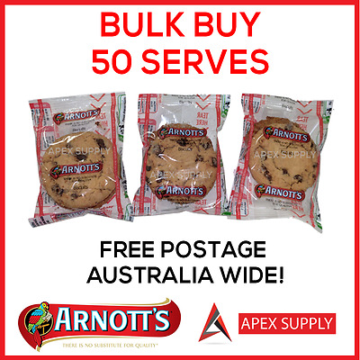 50 x Arnotts Portion Control Biscuit Single Serve Hotel/Motel BnB BULK