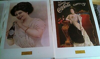 vintage 1970's commemorative coca cola advertising posters RARE set of 4