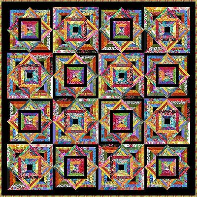 "TROPPO LOCO - 73"" - Quilt-Addicts Precut Patchwork Quilt Kit Double"