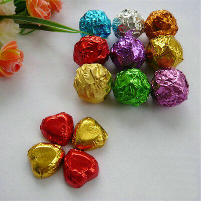 Variety of Colours Chocolate Tin Foil Sheet Candy DIY Package Foil Wrappers
