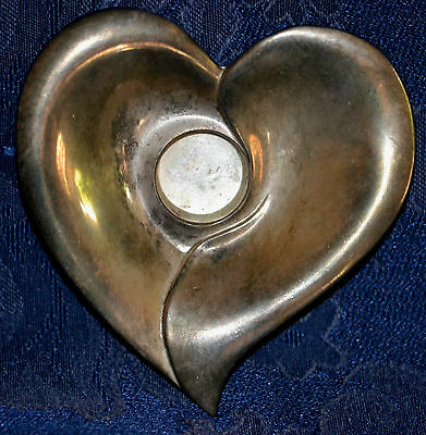 Vintage INTERNATIONAL SILVER COMPANY SilverPlated HEART Candle Holder