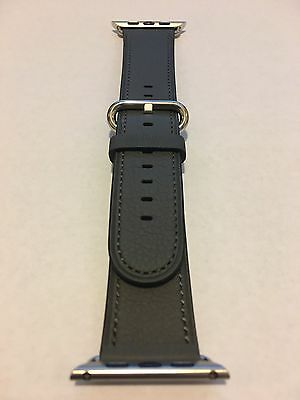 Genuine Apple  Watch Band -  42mm Storm Gray Classic Buckle
