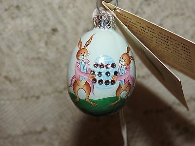 Patricia Breen Jeweled Mini Egg Called Courtly Rabbits