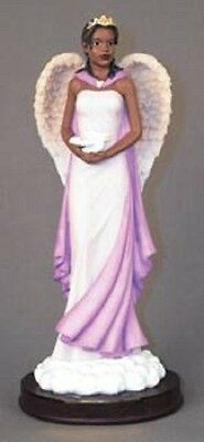 Graceful Angels: Angel in Lavender with Dove Figurine