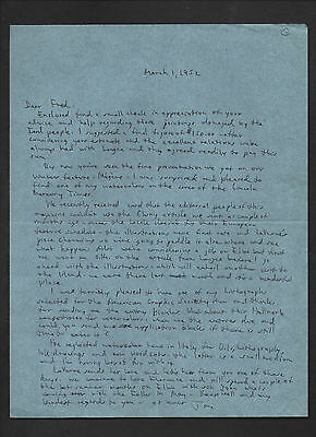 artist THOMAS GEORGE lot of three SIGNED letters + more --- son of RUBE GOLDBERG