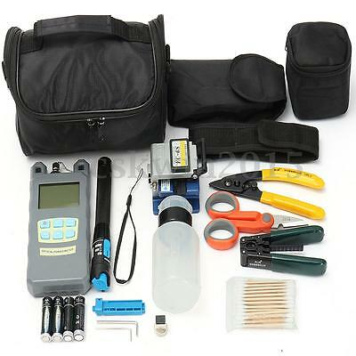 Power Meter FC-6S Fiber Optic FTTH Cleaver Peel Cable Stripping Forcep Tools Kit