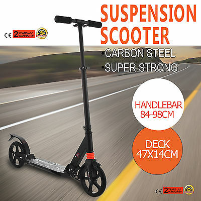Adult Scooter Suspension Folding Big Wheel 200mm Child Gift Commuter  Cheap