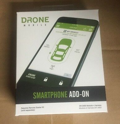 Compustar Drone Mobile Add On Smartphone Android Car Starter Dr3400