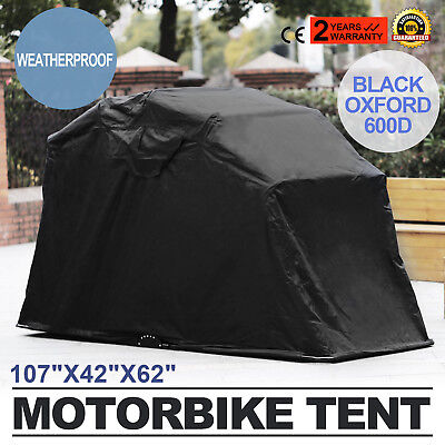 Motorcycle Cover Retractable Shelter Tent Garage Frame Waterproof Outdoor HOT