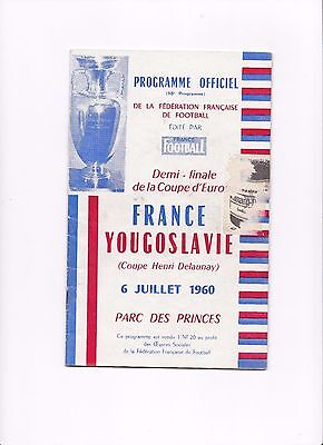 1960 UEFA EUROPEAN NATIONS' CUP SEMI FINAL France v Yugoslavia (4-5 Score)