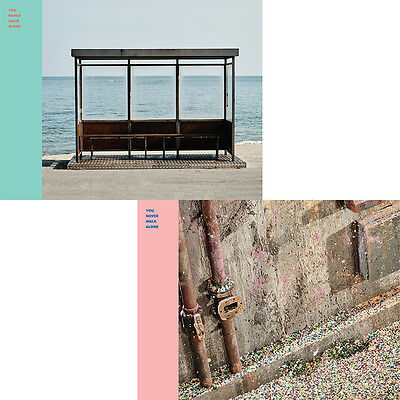 BTS - You Never Walk Alone [LEFT+RIGHT ver SET] 1st Press 2CD+2 Poster+Free Gift