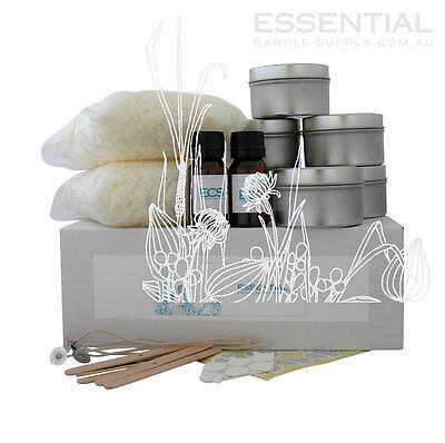 Soy Candle Making Kit 6 x Tins, Contains everything you need PreMeasured